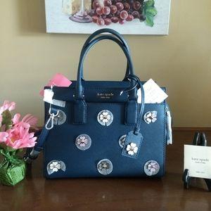 Kate Spade Blue Cameron Spade Flower Applique Bag